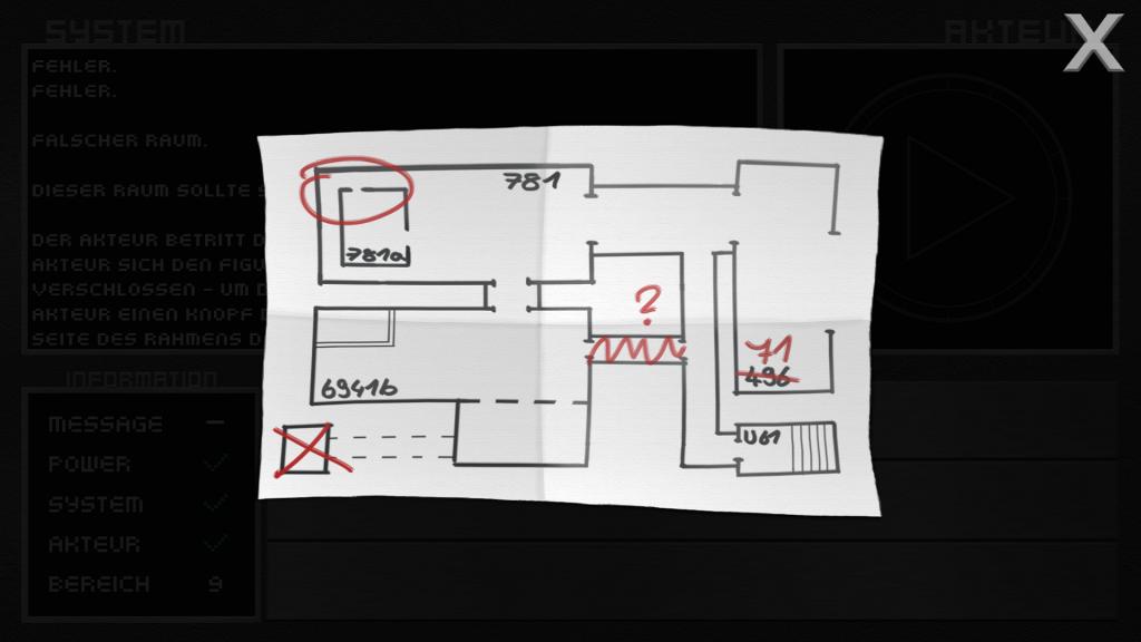 Die Karte, einer der sammelbaren Gegenstände mit möglichem Hinweis auf das geheime Ende von Intra-System.
