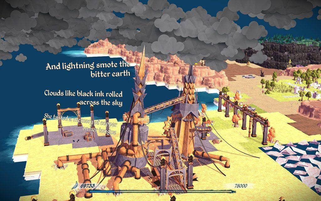 Die einzelnen Spielgebiete werden mit kurzen Erzählpassagen und Kamerafahrten wirksam eingeführt. Screenshot: Pascal Wagner.