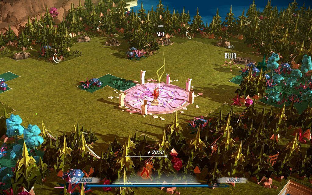 In Kämpfen bewegen sich Gegner mit mehreren Worten wellenförmig auf die Spielerin zu. Screenshot: Pascal Wagner.