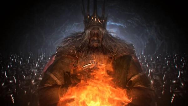 Gwyn, Lord of Cinder. Quelle: Dark Souls, Introfilm.