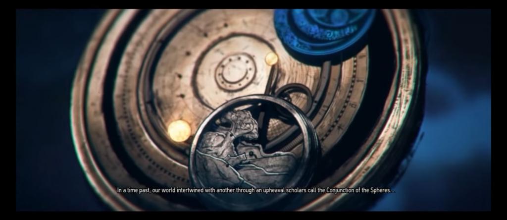 Konjunktion der Sphären wie im Intro von The Witcher 3: Wild Hunt dargestellt.