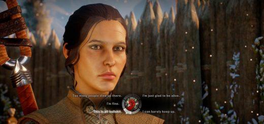 Different game, same problem. Auch bei Dragon Age: Inquisition (2014) ist die textuelle Umsetzung von Dialogen stark verkürzt. Quelle: thegrandarmy.com.