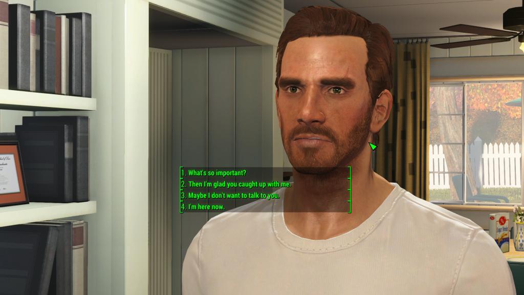 In einem Satz, bitte! Die Dialogue Mod zu Fallout 4 holt die ganzen Sätze zurück. Quelle: nexusmods.com.