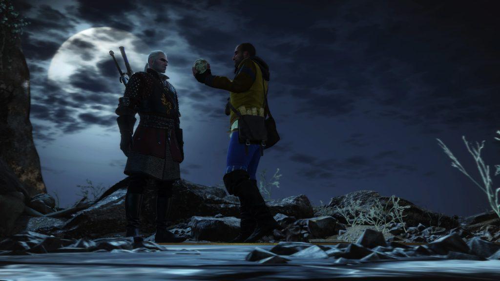 Geralt und Gaunter O'Dimm im Mondlicht nach Erfüllung von Olgierds Pakt.