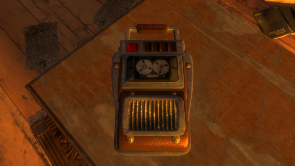 Im 2007 erschienenen Bioshock können allerlei Audio-Tagebücher aufgesammelt und abgespielt werden. Die persönlichen, oft autobiographischen Aufzeichnungen der Bewohner Raptures tragen elementar zur Erzählung des Spiels bei (©2K Games)