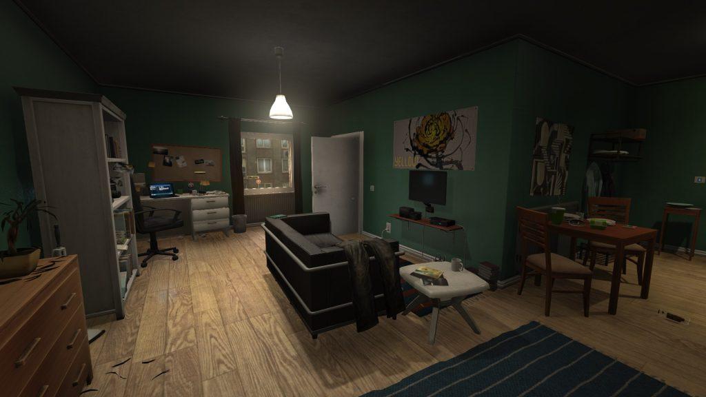 Das erste Mal wachen wir in Simons Apartment auf.