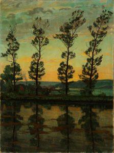 Lili Elbe, Poplerne ved Hobro, 1909. Quelle: lauritz.com