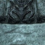 A substitution cipher, just like Al Bhed. Source: thuum.org.