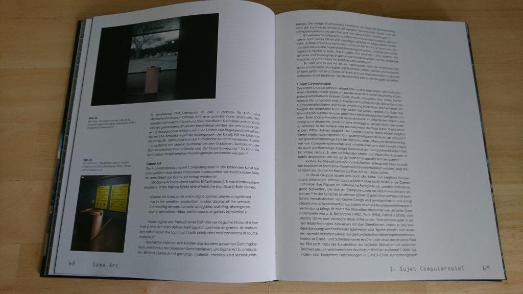 Das Kapitel über Game Art. Foto: Pascal Wagner.