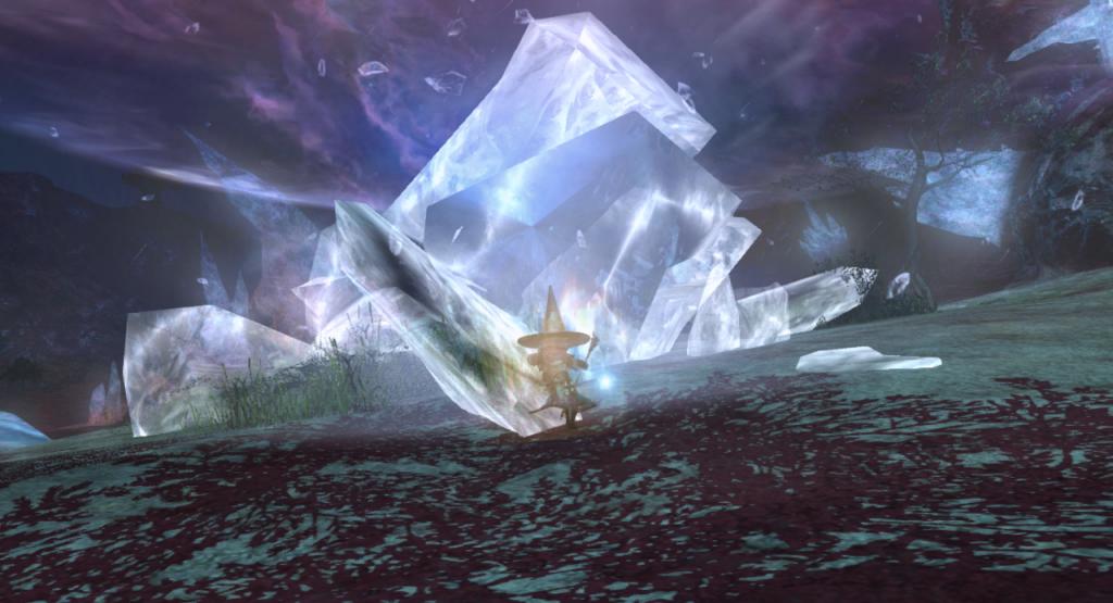 Der Zauber Eisga/Blizzaga (Eis 3) aus Final Fantasy XIV. Quelle: finalfantasy.wikia.com.