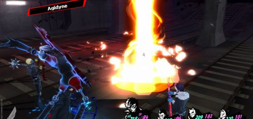 Der Zauber Agidyne (Feuer 3) in Persona 5. Quelle: liftedgeek.com.