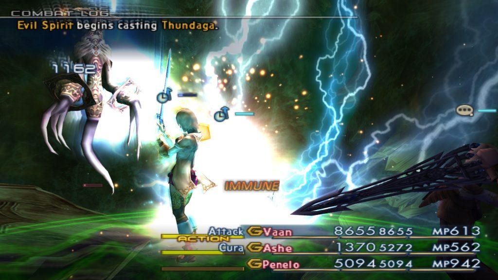 Der Zauber Blitzga/Thundaga in Final Fantasy XII. Quelle: finalfantasy.wikia.com.