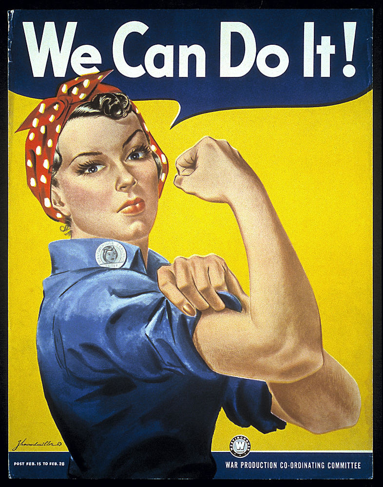 "J. Howard Miller, ""We Can Do It!"", 1943, Propagandaposter. Quelle: wikipedia.com."