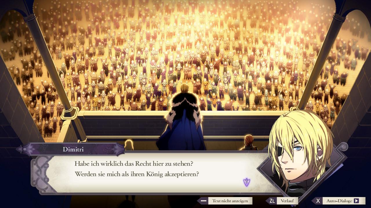 Fire Emblem: Three Houses Dimitri erlangt seinen Thron zurück